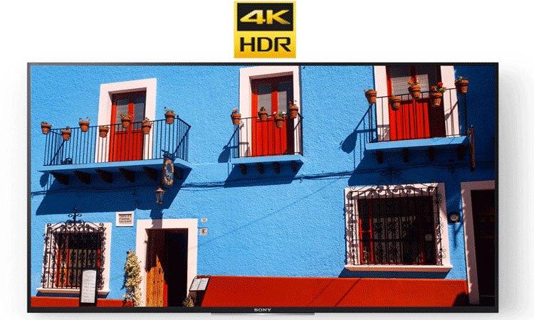 Smart tivi 4K 55 inch Sony KD557000E tái hiện độ tương phản hình ảnh hoàn hảo