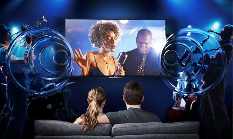 Smart tivi 4K 55 inch Sony KD557000E âm thanh chất lượng hoàn hảo