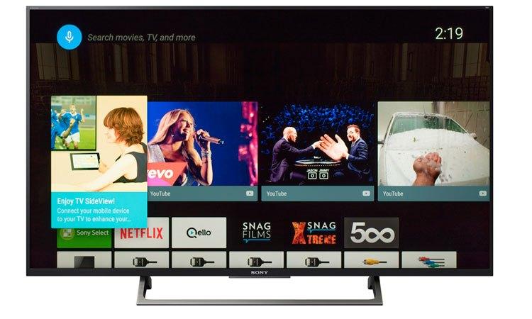 Smart tivi 4K 55 inch Sony KD-55X8500E tìm kiếm nội dung bằng giọng nói