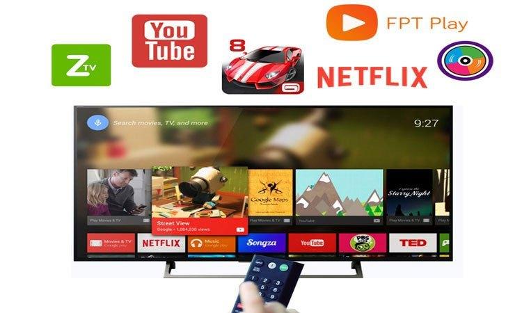 Tivi 4K Sony 75 inch KD-75X9000E VN3 kho ứng dụng giải trí phong phú đa dạng