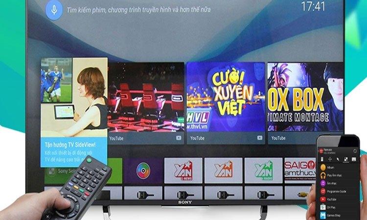Tivi Sony 55 inches 4K KD-55X9000E VN3 giải trí đa phương tiện