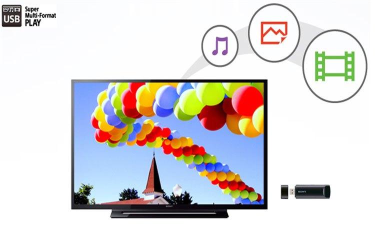 Tivi Sony KDL-40R350E VN3 kết nối USB dễ dàng