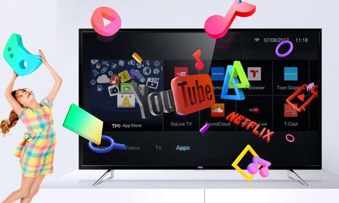 Smart Tivi TCL L40S62 cho giải trí phong phú