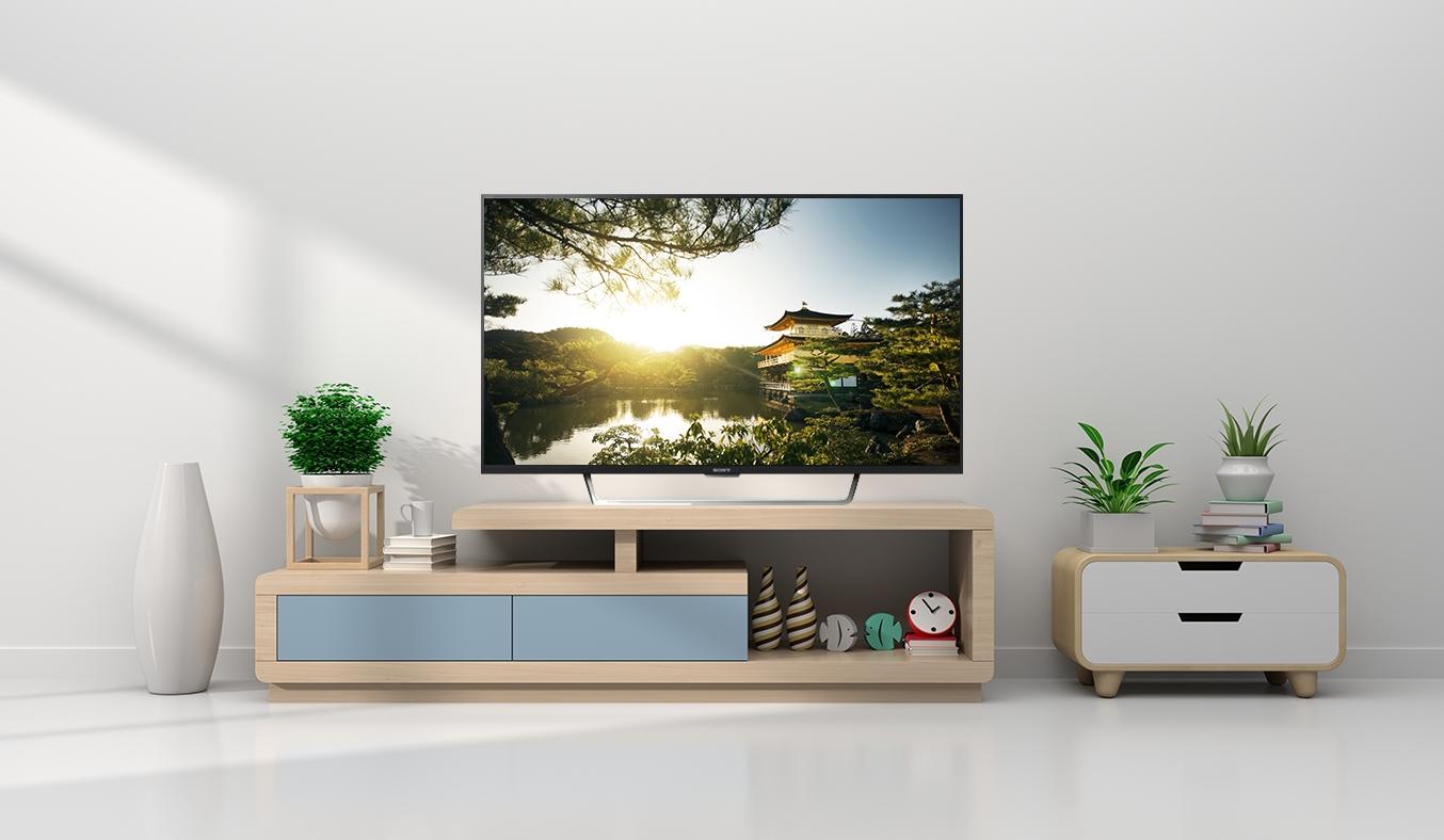 Tivi Sony 49 inches KDL-49W750E VN3 có thiết kế mỏng, sang trọng