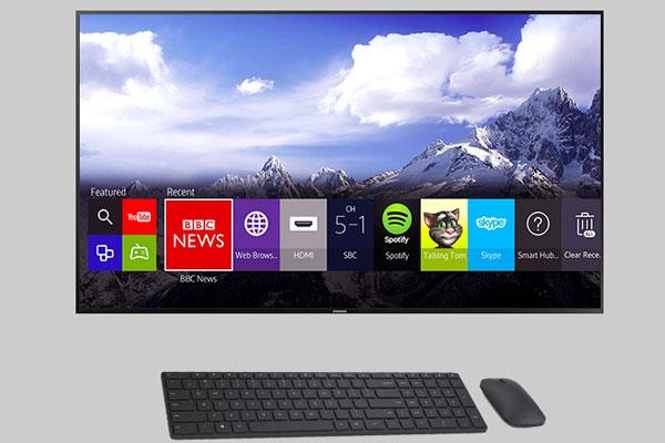Nhờ Bluetooth, tivi kết nối dễ dàng với bàn phím, chuột để đơn giản hóa việc điều khiển