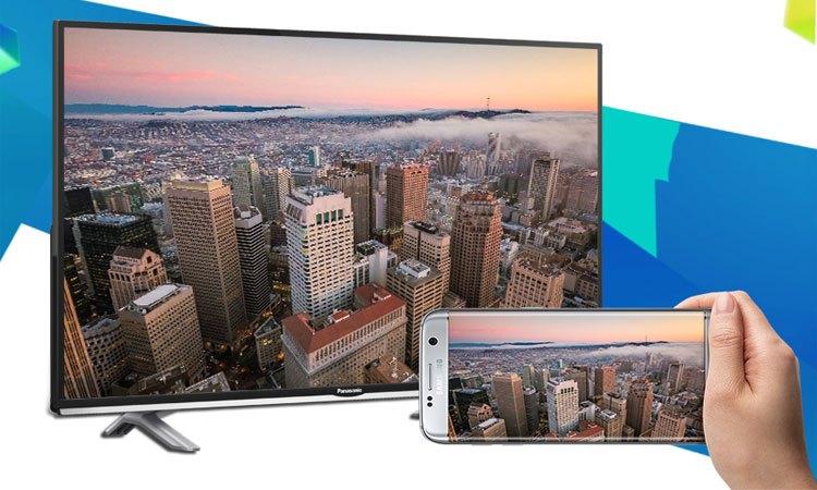 Smart tivi 40 inch Panasonic TH-40SE505V trình chiếu hình ảnh từ điện thoại lên màn hình tivi