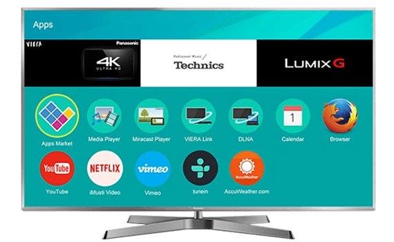 Thiết kế tinh tế, hiện đại của smart tivi 50inch Panasonic TH-50EX750V