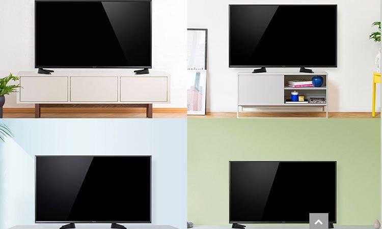 Smart tivi 4K 55inch Panasonic TH-55EX600V có chân đế được thiết kế linh hoạt