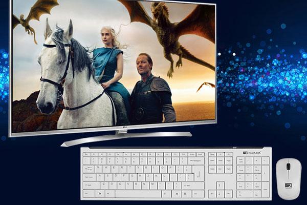 Sử dụng chuột và bàn phím giúp những thao tác xử lý trên tivi diễn ra nhanh chóng hơn