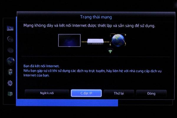 """Chọn """"Cài đặt IP"""" trên tivi"""