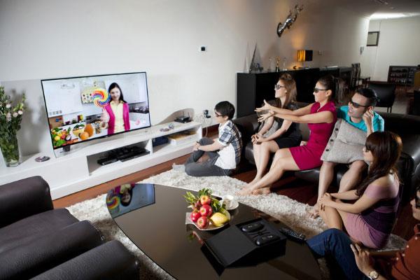 Kho giải trí phong phú sẽ giúp gia đình trải qua những giây phút thư giãn thật thoải mái