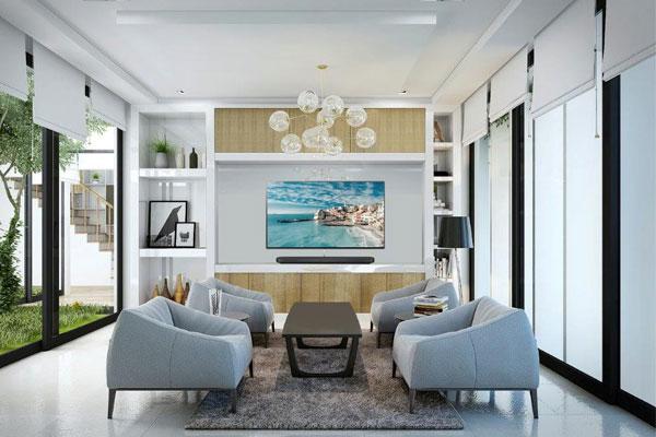 Tivi OLED chính là điểm nhấn cho bức tranh phòng khách tuyệt đẹp bạn đang hướng tới