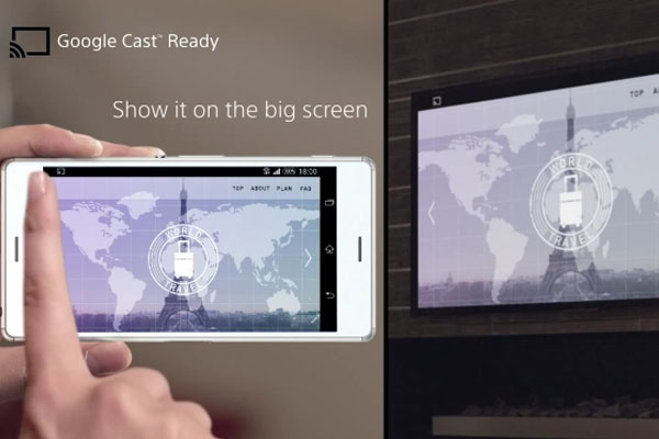 Tivi Sony được trang bị nhiều công nghệ đặc biệt dành cho việc truyền tải hình ảnh từ điện thoại lên tivi