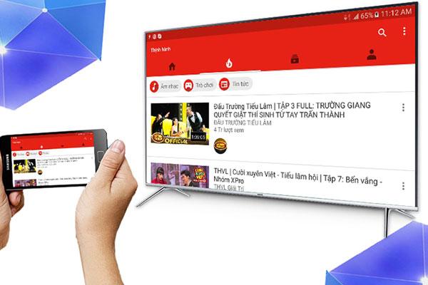 Tivi và điện thoại cần cài đặt sẵn ứng dụng Youtube