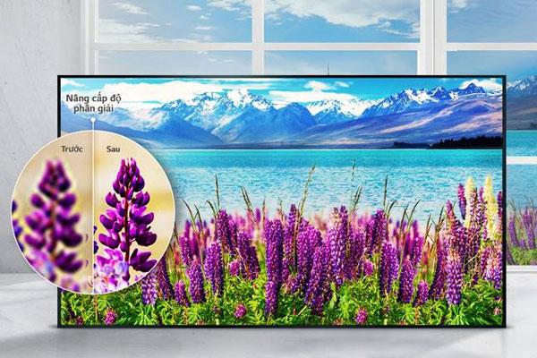 Tivi LG được tích hợp bộ nâng cấp 4K giúp tăng cường độ phân giải thông qua công nghệ xử lý hình ảnh siêu cao cấp