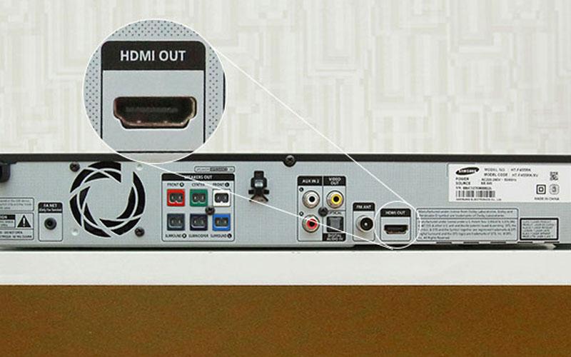 Thiết bị âm thanh muốn kết nối với tivi thông qua HDMI (ARC) thì phải được trang bị cổng HDMI OUT