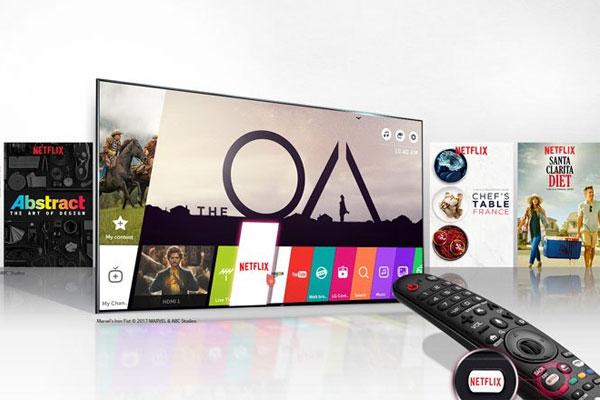Kho ứng dụng thú vị Netflix 4K HDR chính là điểm thu hút người dùng của chiếc tivi này