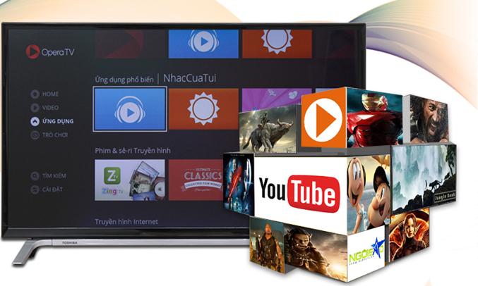 SmartTivi Toshiba 32 inch 32L5650VN có kho ứng dụng phong phú