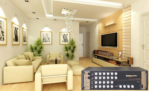 Amply Boston Audio PA-1100 N có thiết kế gọn gàng