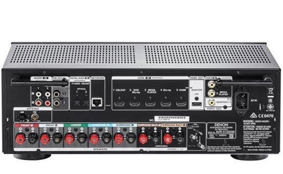 Amply Denon AVR-X2200WBKE2 kết nối HDMI