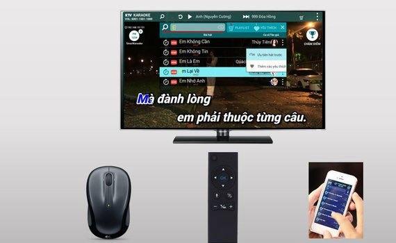Đầu mini Karaoke wifi Acnos KM6 (2TB) dễ dàng điều khiển