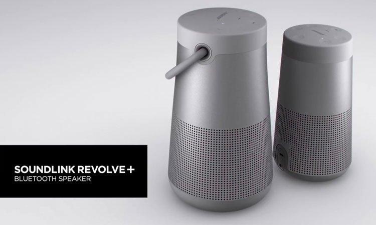 Loa Bose Soundlink Revolve Plus xám có thiết kế bắt mắt