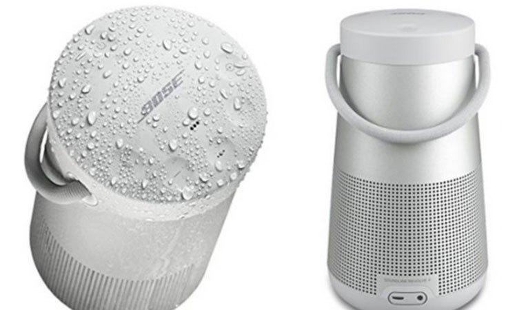 Loa Bose Soundlink Revolve Plus xám có khả năng chống nước cao