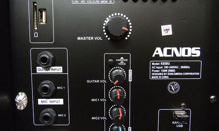 Loa kéo di động ngoài trời 18'' Acnos KB50U có kết nối đa dạng
