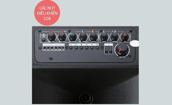 LoaAcnos KB39K có nút chỉnh âm thanh tiện lợi