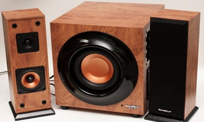 Loa vi tính Soundmax A2116 thiết kế màu gỗ cổ điển