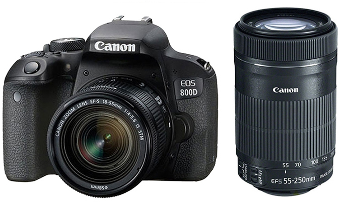 Máy ảnh Canon EOS 800D Kit 18-55 hạn chế rung lắc