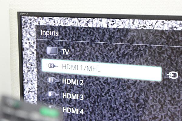 Chọn muc HDMI để kết nối laptop với tivi