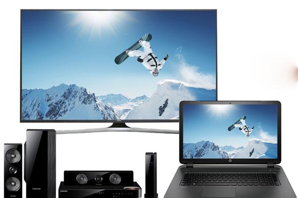 Bây giờ bạn chỉ cần chọn một bộ phim muốn thưởng thức trên laptop và rồi nó sẽ được hiển thị trên màn hình rộng của tivi.