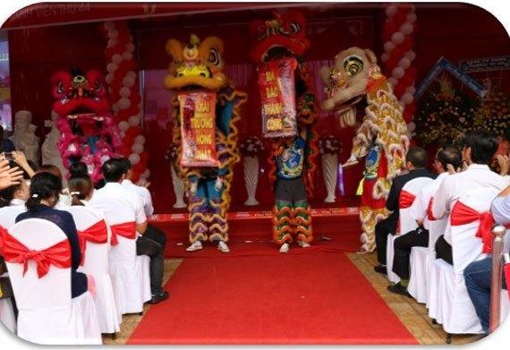 Màn múa lân chào mừng Nguyễn Kim Bạc Liêu chính thức đi hoạt động