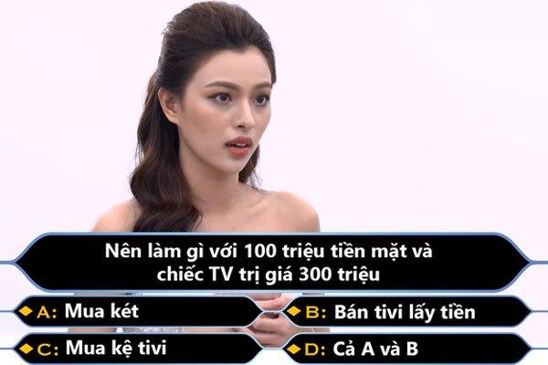 Ảnh chế của Tú Hảo khi nhận được tivi OLED LG 300 triệu trong đêm chung kết The Face