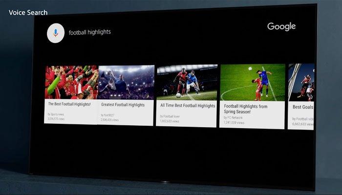 Tìm kiếm nội dung dễ dàng bằng giọng nói với tivi Sony BRAVIA OLED A1