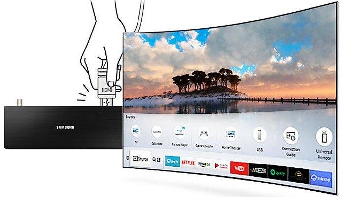Tivi LED Samsung MU6300 có thể tự động nhận diện các thiết bị kết nối