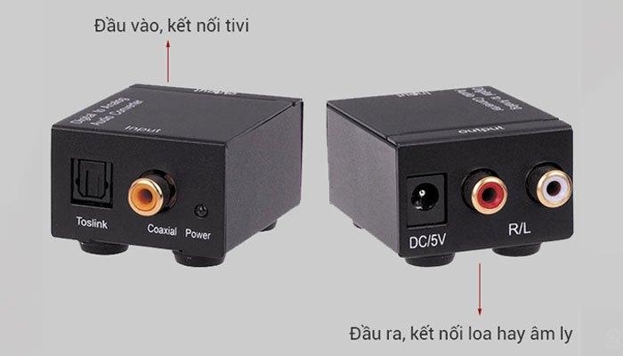 Bộ chuyển đổi Digital to Analog Audio giúp loa kết nối với tivi