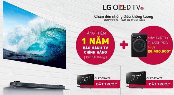 Những ưu đãi giá trị dành tặng cho khách hàng mua TV OLED LG tại Nguyễn Kim