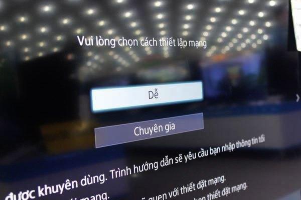 Chọn thiết lập Dễ trên tivi Sony