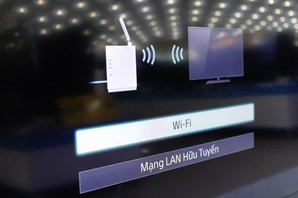 Trên tivi Sony chọn kết nối thông qua WiFi