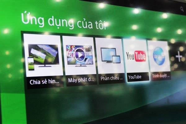 Truy cập vào các ứng dụng có sẵn trên tivi Sony để kiểm tra kết nối