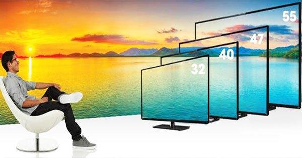 Tivi LED đa dạng kích thước hơn tivi LCD
