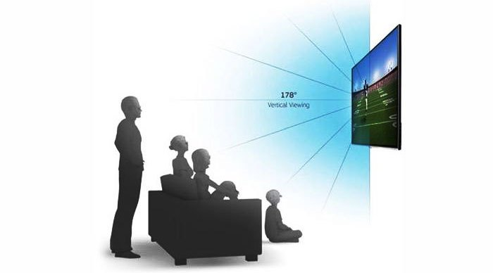 Góc nhìn của tivi 3D thụ động lên đến 178 độ