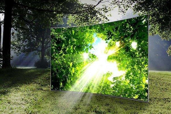 Tivi UA55KU6100KXXV của Samsung với thiết kế sang trọng và hiện đại