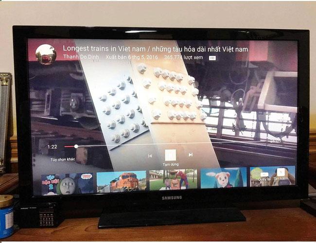 Xem YouTube trên một số mẫu TV thông minh sẽ giúp ẩn phần bình luận