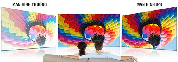 Tivi có tấm nền IPS cho nhà bạn góc nhìn rộng, giúp dễ dàng thưởng thức chương trình ở bất kì vị trí nào trong phòng khách