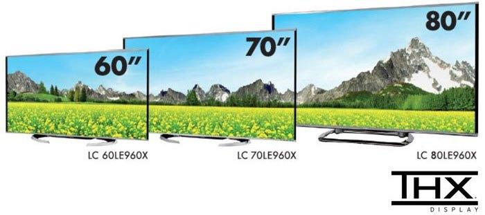 Tivi Sharp với kích thước đa dạng dễ dàng phù hợp với mọi không gian nhà ở