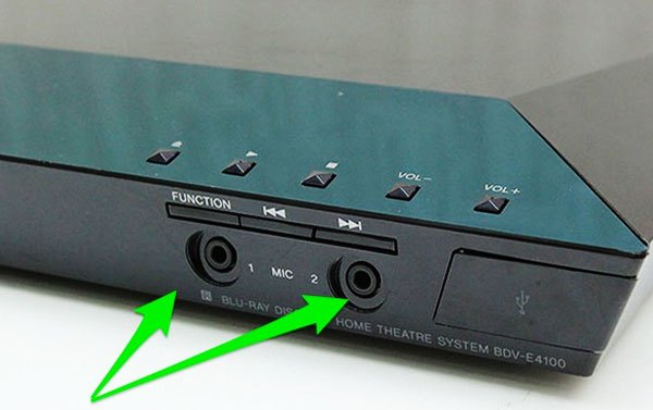 Nhận biết giắc cắm âm thanh trên đầu đĩa dàn âm thanh