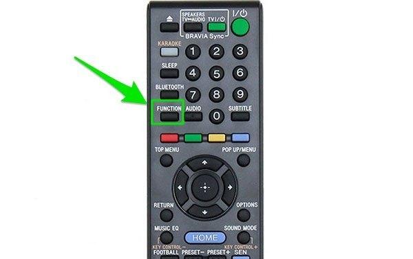 NútFUNCTION trên remote dàn âm thanh Sony